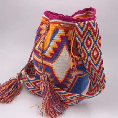 Colorful ethnic mochila bag from Colombia