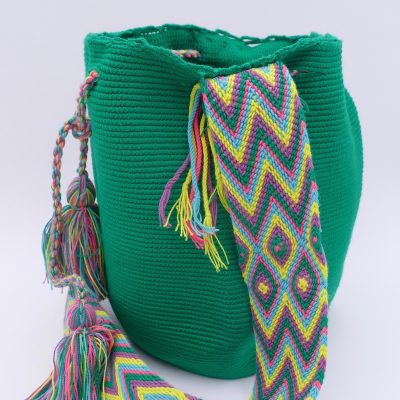 Ethnic bag handwoven by indigenous Wayuu people