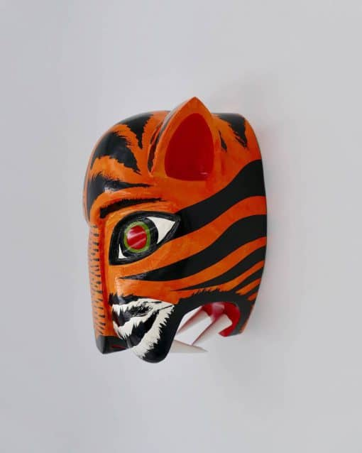 Children bedrooms idea: A bright tiger head for junior's bedroom wall decoration