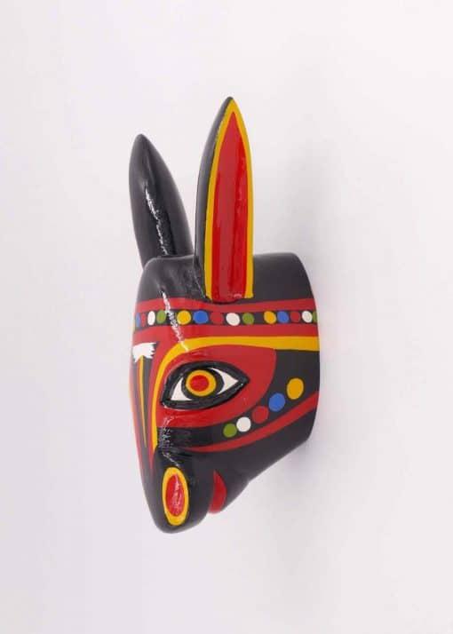 Wall mounted animal head - Black donkey