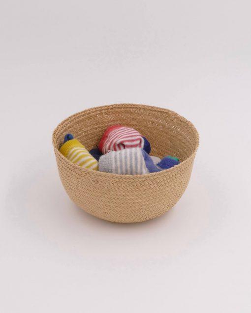 Small natural storage basket