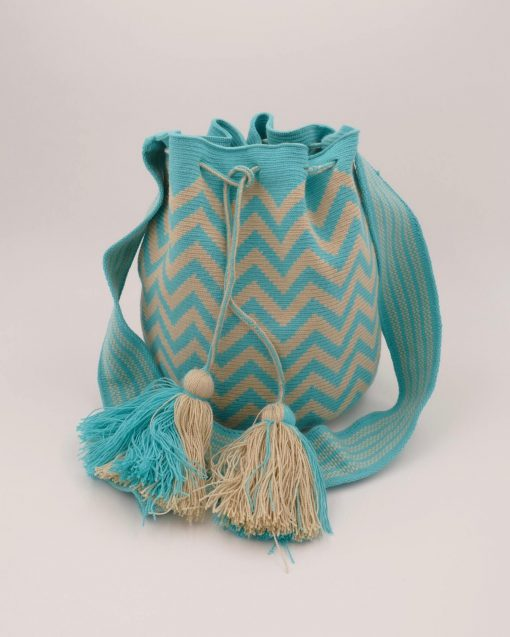 Turquoise ethnic Colombian bag
