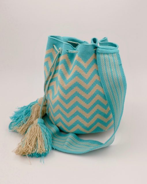 Stunning Wayuu bag, handmade by native women in Colombia