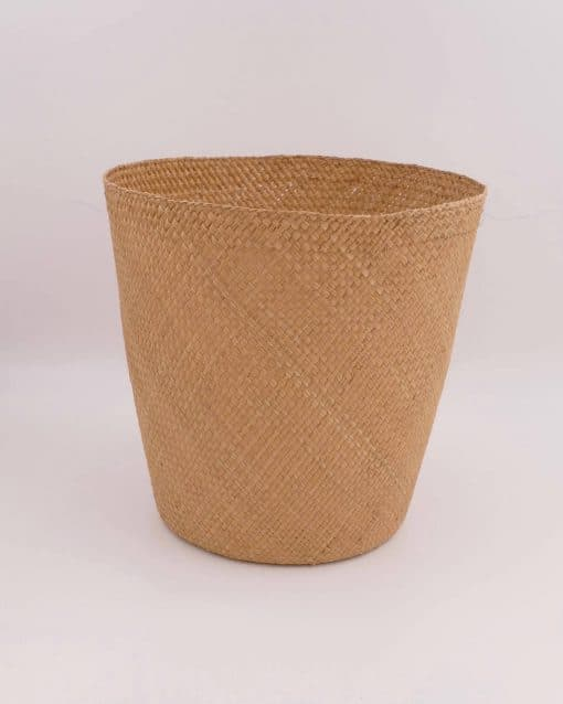 Natural storage basket handmade in a traditional way in Colombia