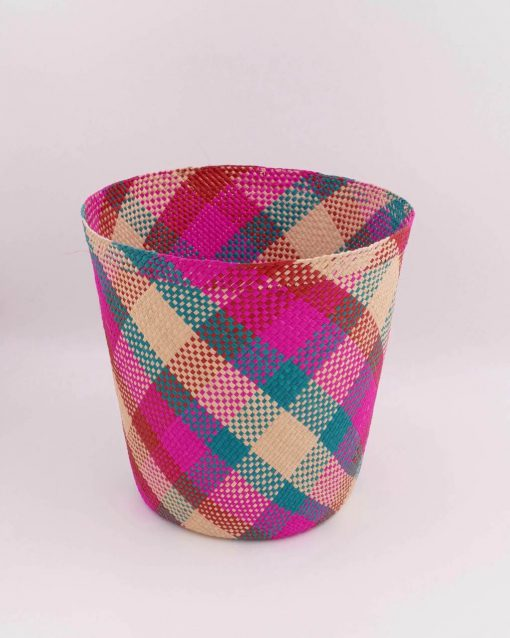 Woven basket, ideal for storage or as a plant basket
