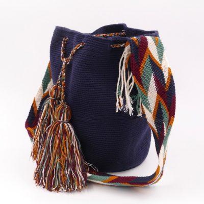 Mochila Wayuu bag, beautiful dark blue color
