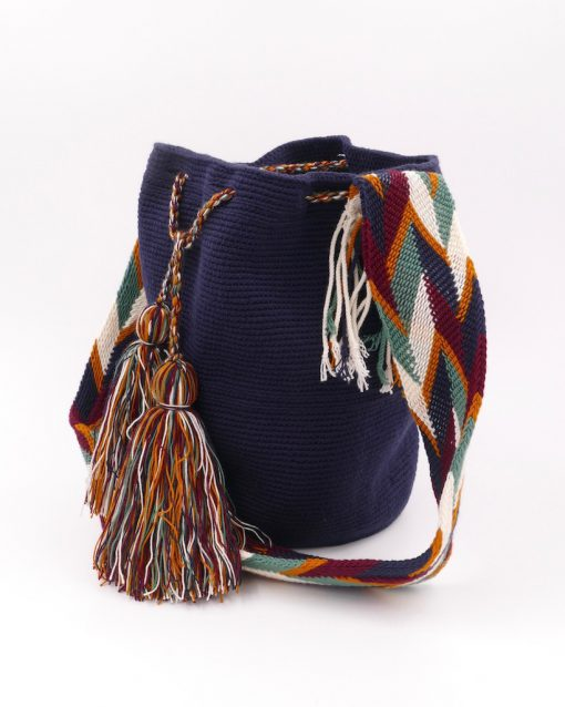 Mochila Wayuu bag, beautiful dark blue color