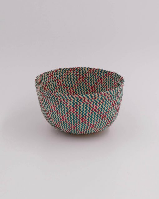 Small storage basket handwoven in Colombia