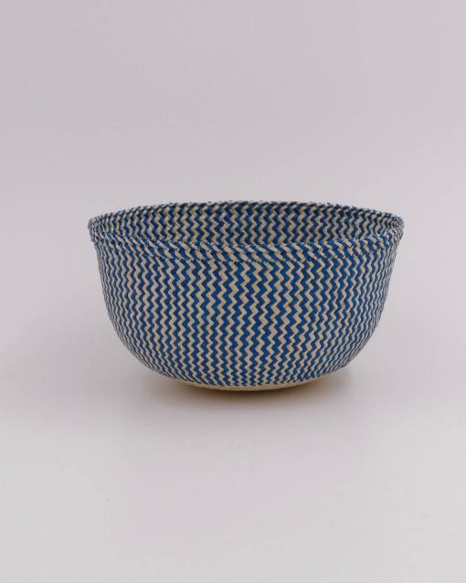 Blue bread basket handmade in Colombia