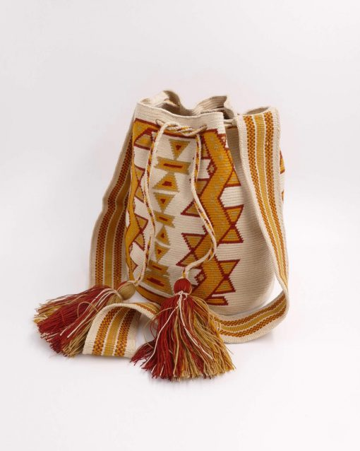 This Bag is an authentic bag handmade by a native Wayuu woman of Colombia