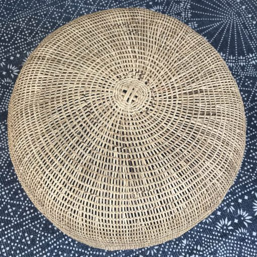 Large ethnical storage basket handmade with natural fiber in Colombia