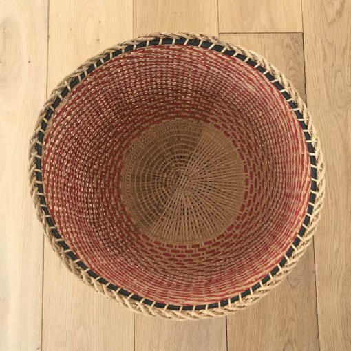 Amazonian red storage basket