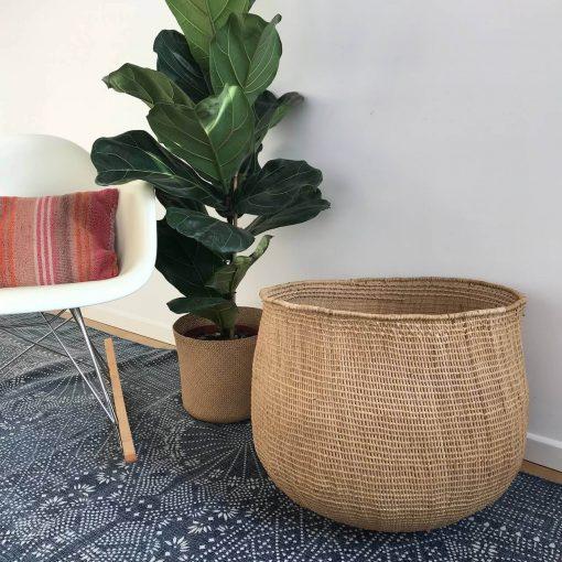 Large natural storage basket