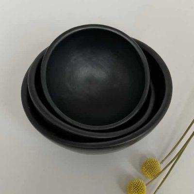 La Chamba black pottery - bowls