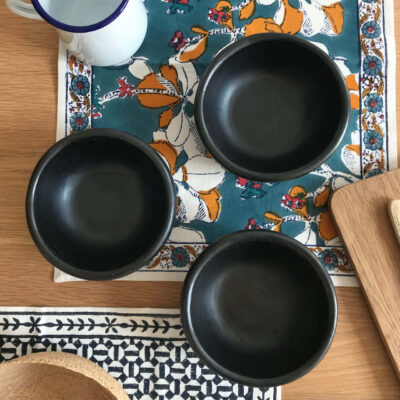 La Chamba black pottery bowl
