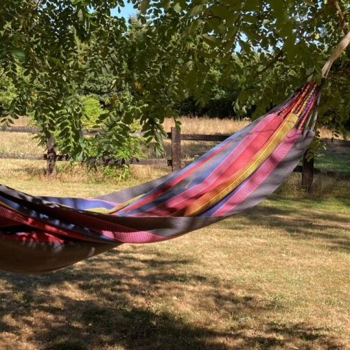 One person hammock coal and bright colors ideal for outdoor