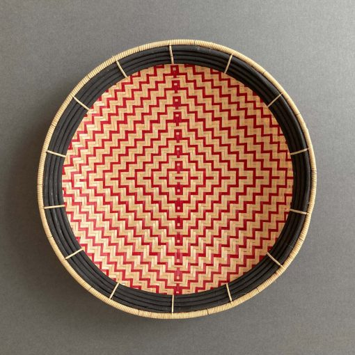 black red wall basket