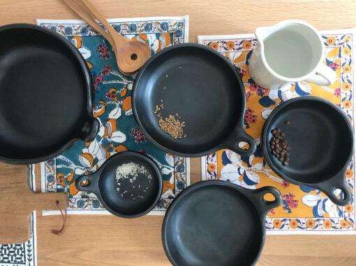 La Chamba black clay plates