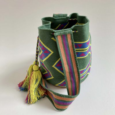 Handmade Green Wayuu Bag