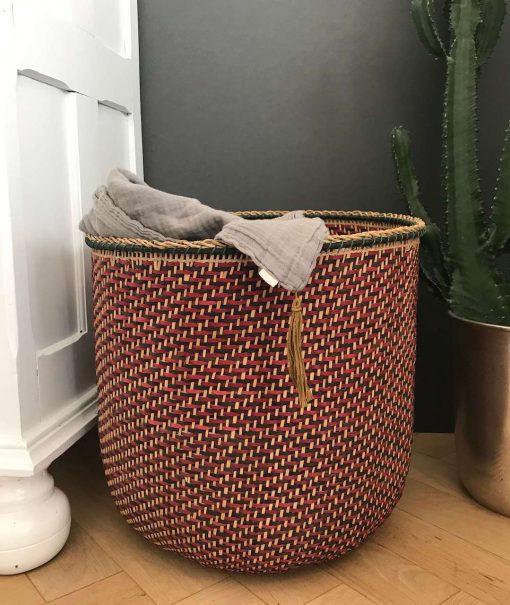 panier rangement couvertures coussins