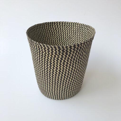 Black paper bin