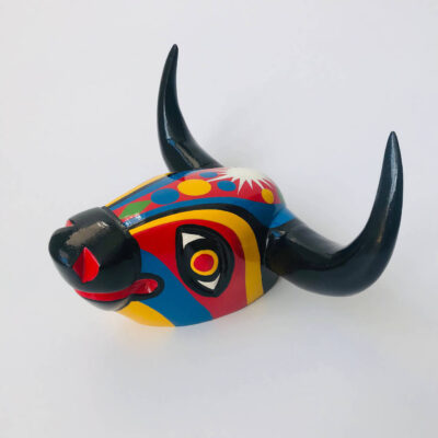 Wooden Bull Head Colombia