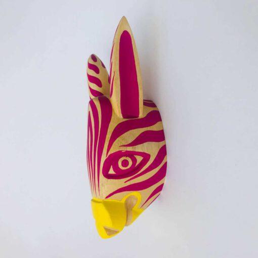 zebra wooden head